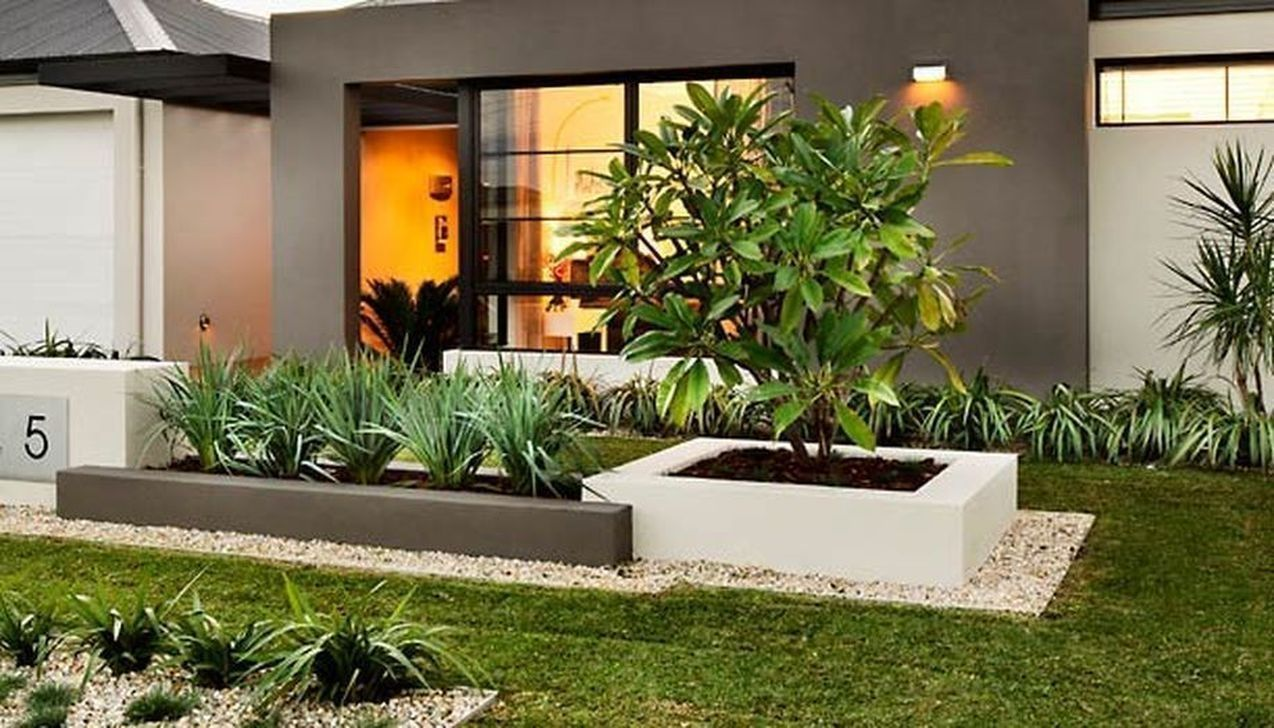 Nice 36 Amazing Small Front Yard Landscaping Ideas Modern Front Yard Small Front Yard Landscaping Front Garden Landscape
