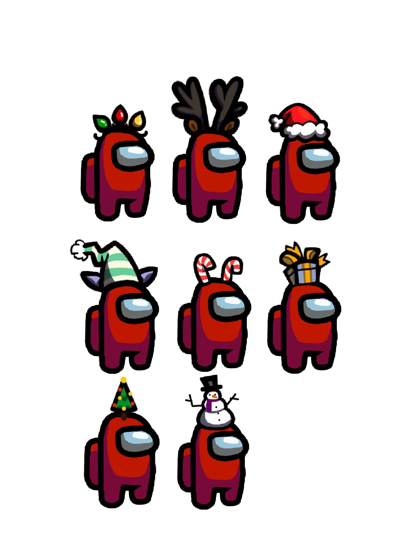 Among Us Christmas hat pack png Digital Download P
