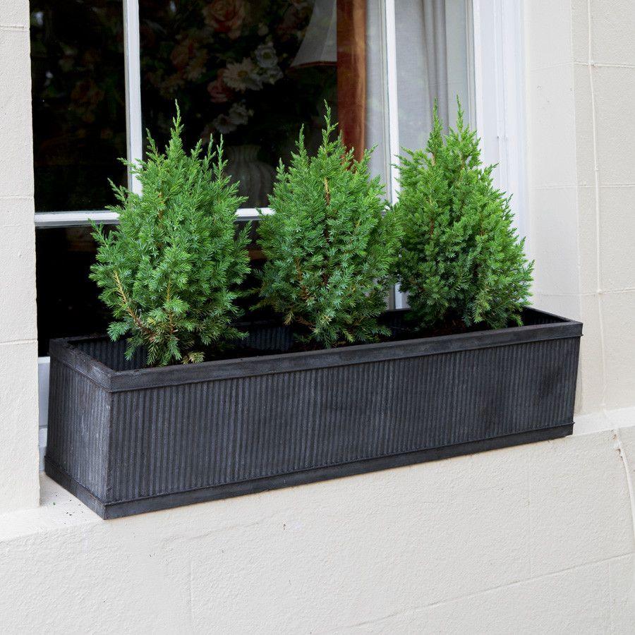 Rustic Vence Galvanised Fluted Trough - Large | Zinc planters ... on zinc planter boackround on white, zinc furniture, zinc bowls, zinc window boxes, zinc garden statues,