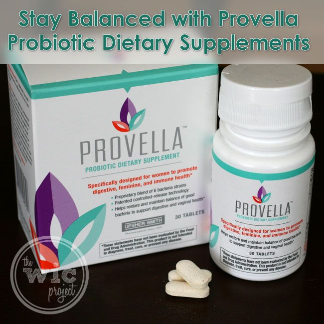 I really like Provella Probiotic Dietary Supplements - they're designed for women to help us keep your digestive, feminine, & immune systems in balance.