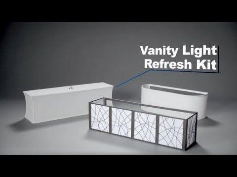 Updating Bathroom Vanity Lights vanity light refresh kit. easy upgrade for hollywood vanity light