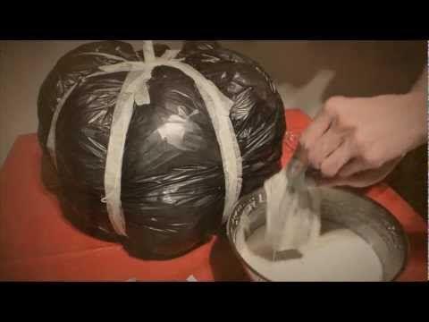 DIY Paper Mache Pumpkin Halloween How-to