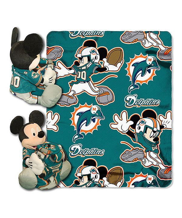 Take A Look At This Miami Dolphins Mickey Mouse Plush Throw Gorgeous Miami Dolphins Plush Fleece Throw Blanket