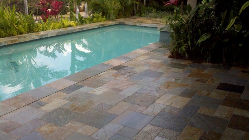 Rectangle pool landscaping ideas rectangular for Swimming pool patio designs