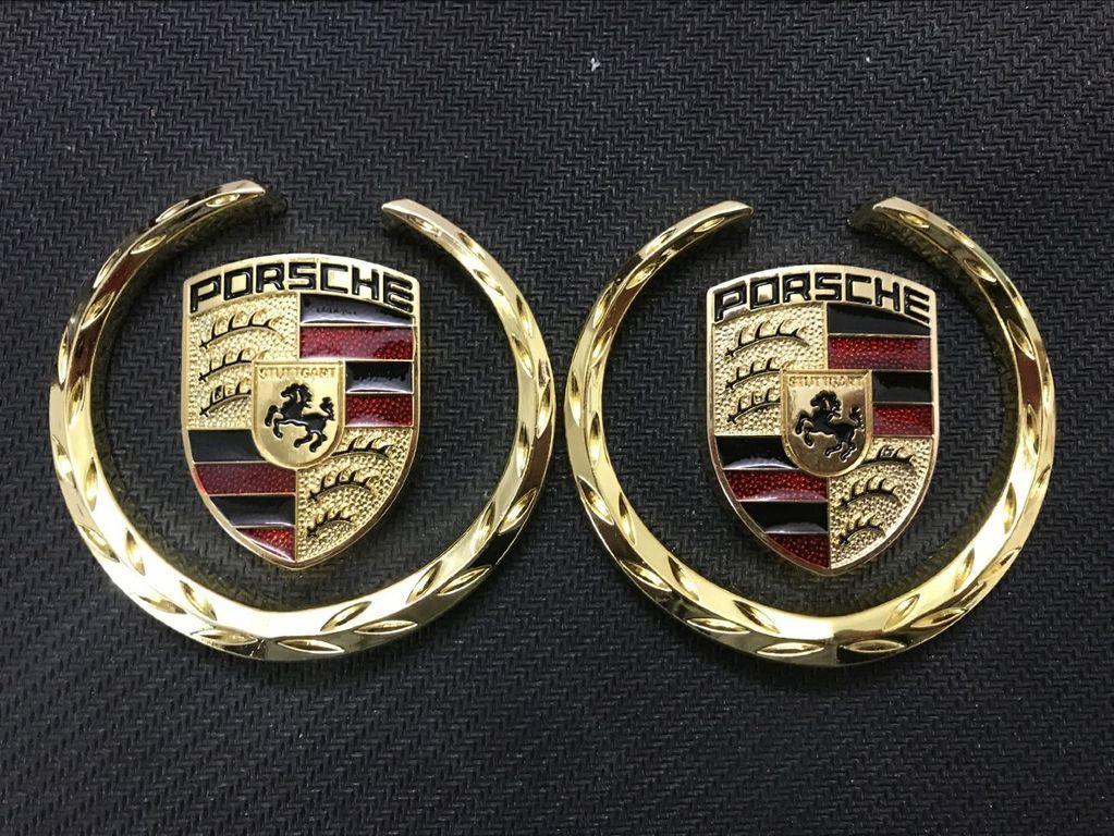 1Pair Metal Car Side Emblem Badge Sticker Logo Accessories for Mercedes Benz