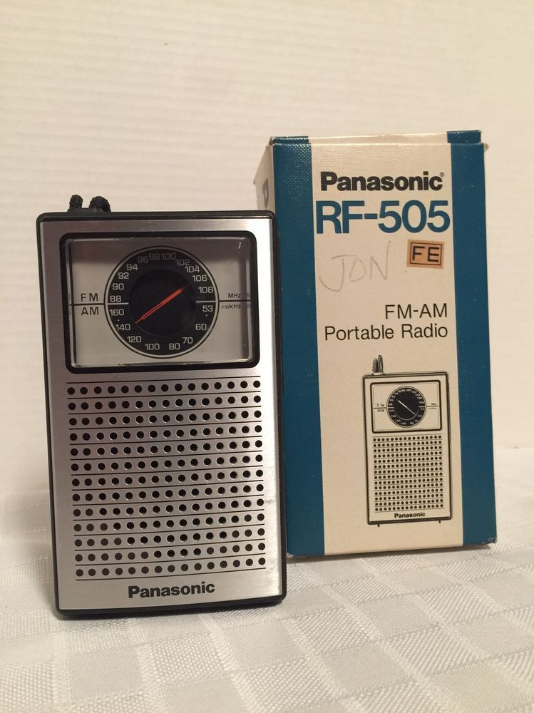 Vintage Panasonic Model Rf505 Handheld Am Fm Transistor Radio Works Rhpinterest: Tr 2051 Radio Realtone Electronics Inc Where Build At Gmaili.net