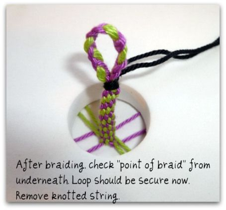 how to add a loop to end of a kumihimo braid