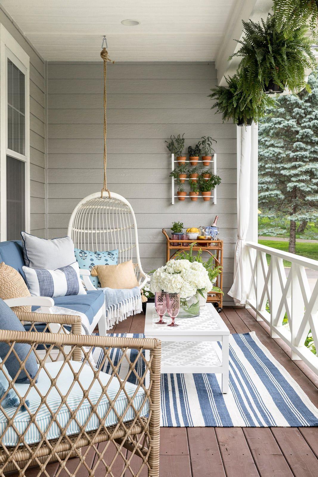[ #Balcony Garden #Balcony Garden apartment #Balcony Garden ideas #Balcony Garden small #Bria #front #Hammel #Interiors #Porch #Reveal