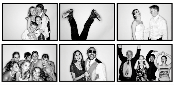 Create a diy black and white photo booth for personalised fun memories from your day