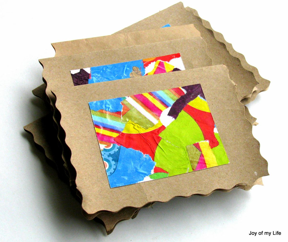 recycled wrapping paper brown paper bag greeting cards - Papers For Kids