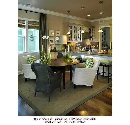 Love The Casual Eating Area Open Kitchen Home And Garden