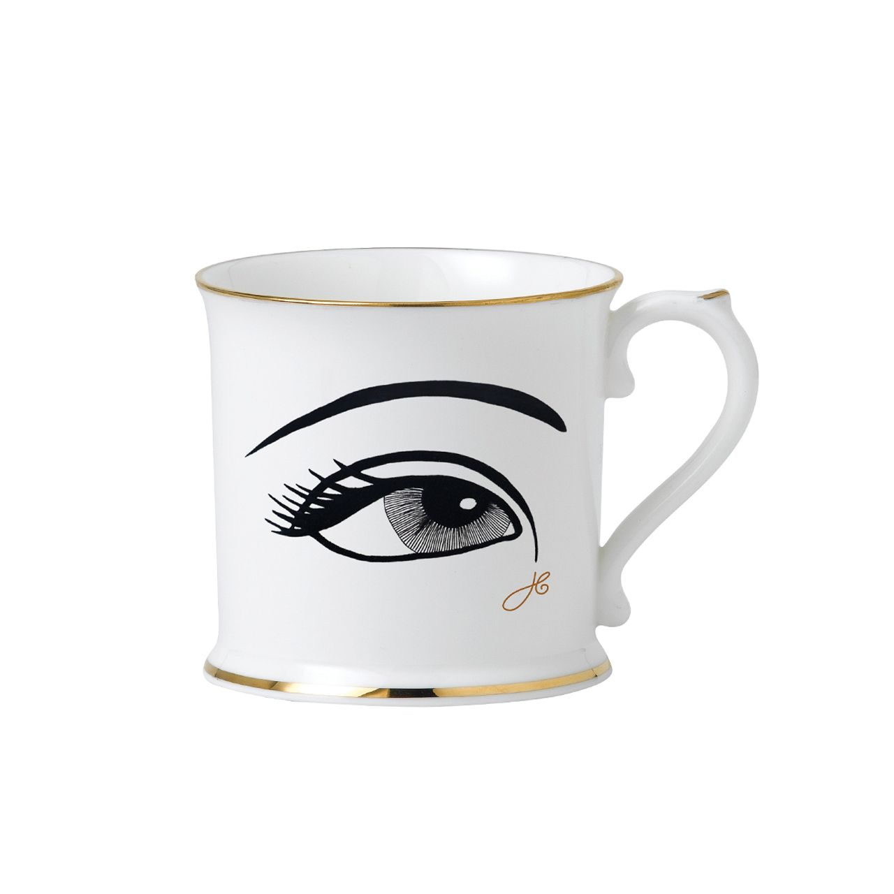 Attractive This Striking China Mug Depicts My Iconic Eye Design In Black With Gold  Edges. The