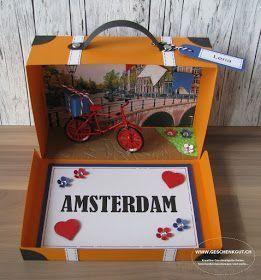 Photo of DIY gift crafting – suitcase Amsterdam travel voucher city trip birthday gift voucher …