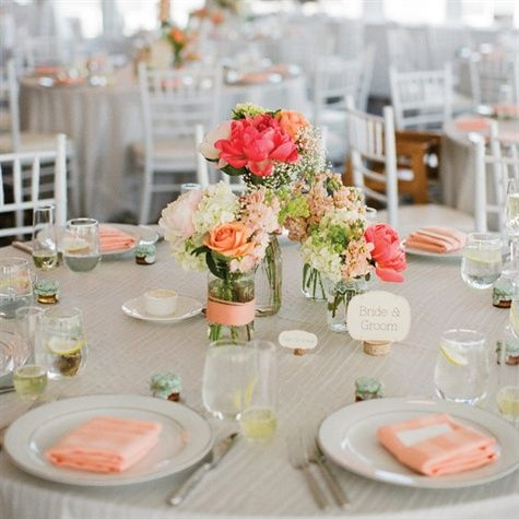Find This Pin And More On Vintage Meets Modern Wedding By Amandahunley.  Simple Centerpieces For Weddings
