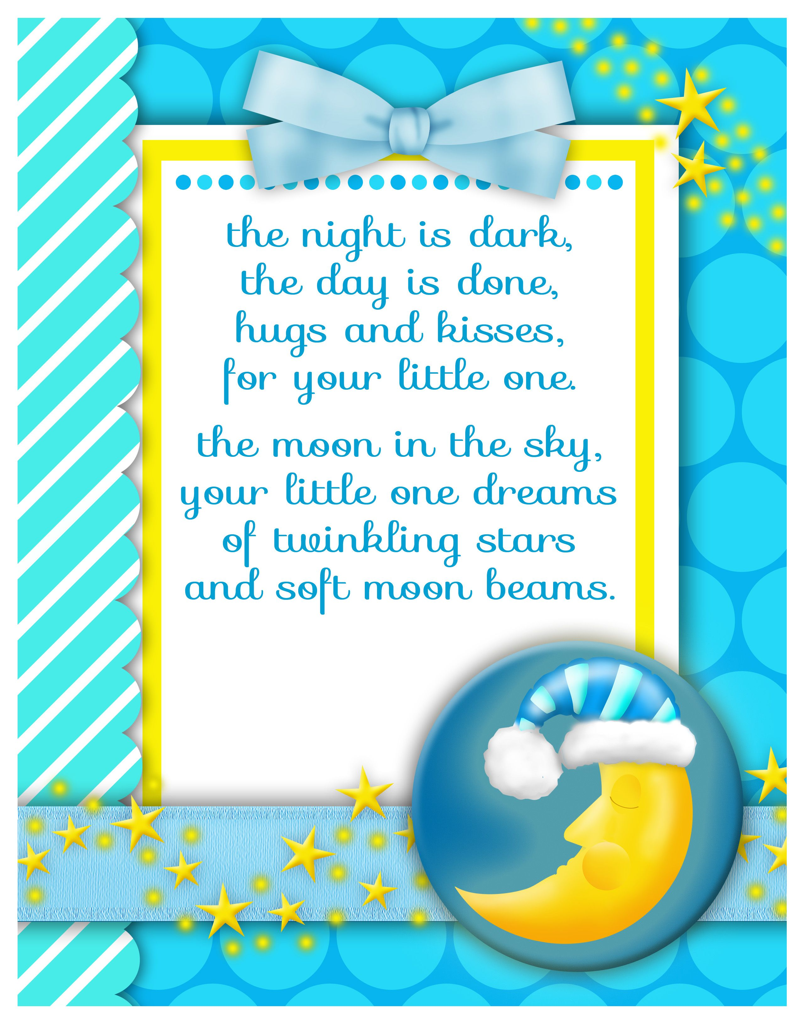 Goodnight baby boy baby shower t Gift Ideas