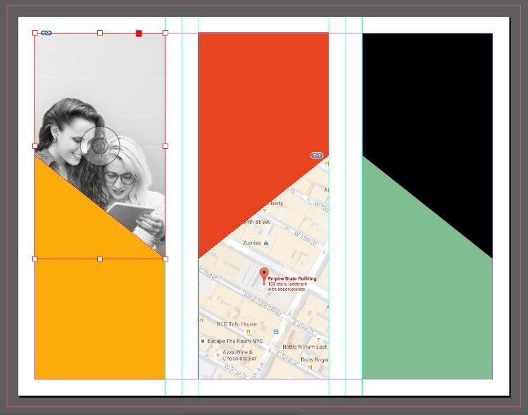 how to make a trifold brochure in indesign
