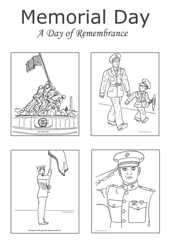 Memorial day coloring pages free and printable for Memorial day coloring pages for kids