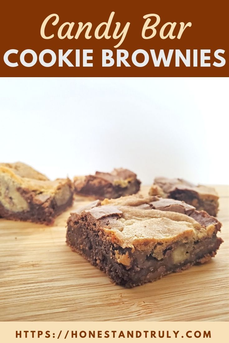 Enjoy candy cookie brownies A tasty way to use up your leftover Halloween candy  or to make any time of year with chocolate chips This cross between cookies and brownies...