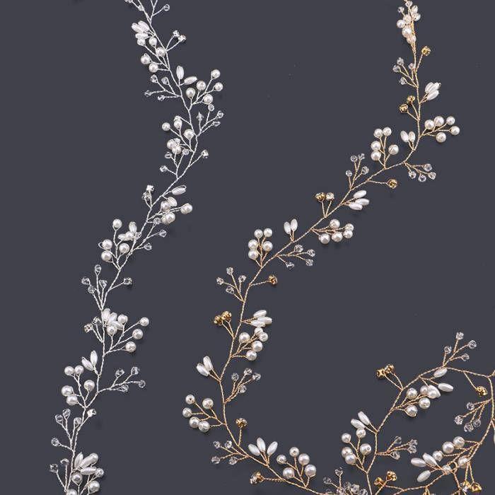 Bridal hair vine, Bridal vine, Bridal hairpiece, Wedding hair jewellery Crystal & Pearl hair vine Silver or Gold tone wire bridal hairpiece