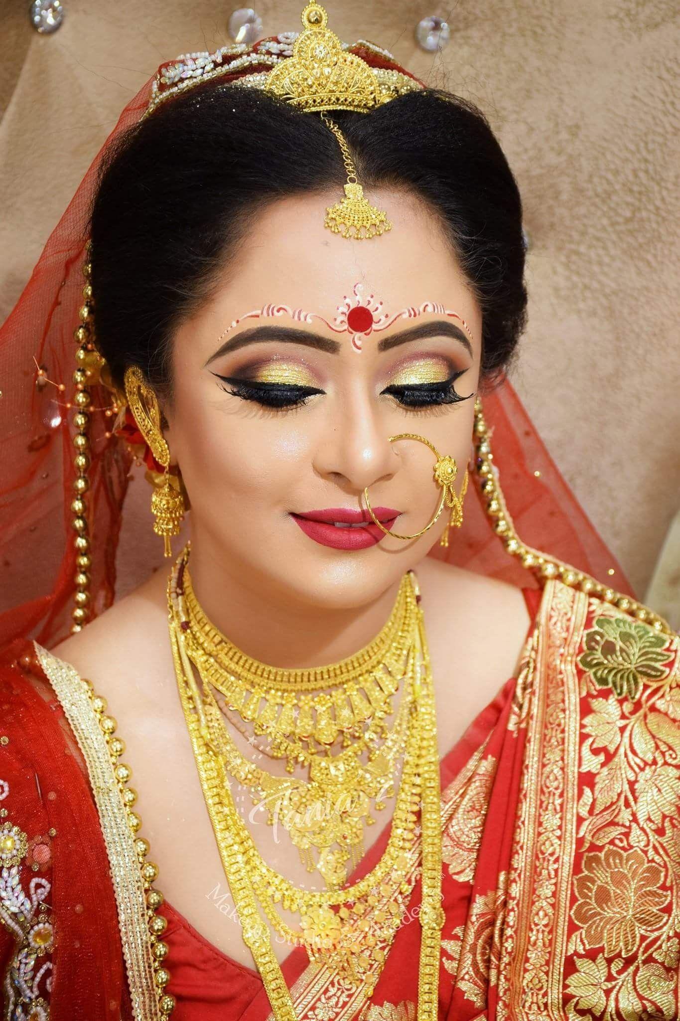 Pin by shree on Bridal Pinterest Bengali bride Gold jewellery