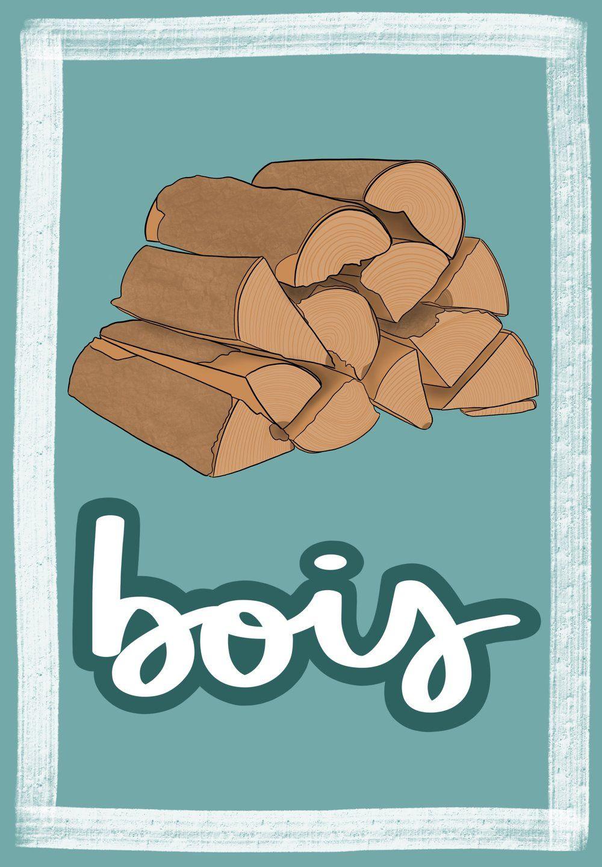 Bois French Flashcard by Melissa Zahradnicek | French Flashcards by ...