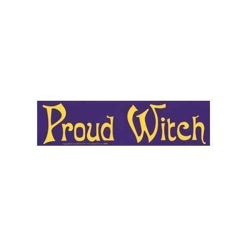 Proud witch bumper sticker