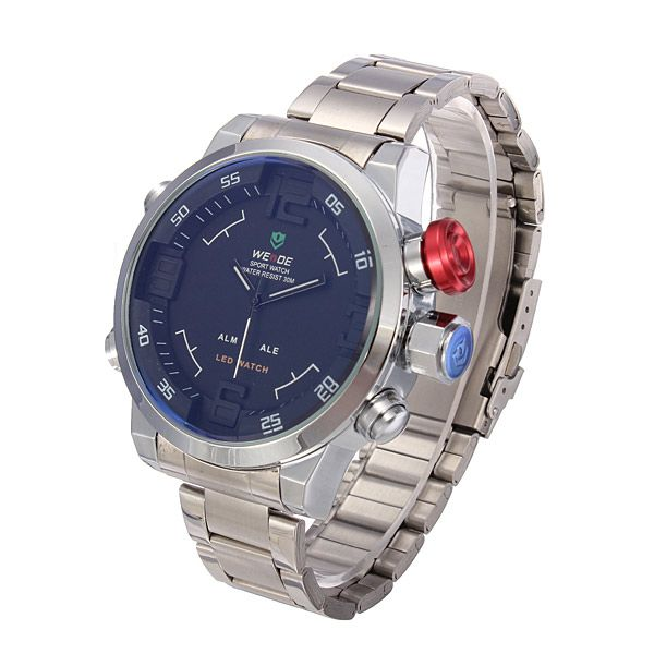 Waterproof LEd Stainless Steel Wrist Watch