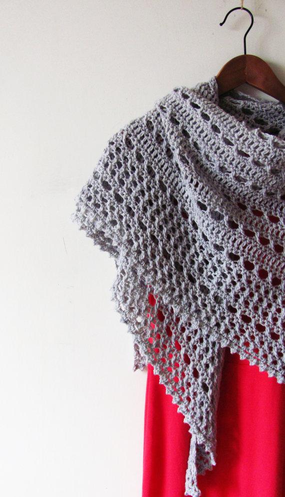 Northern Sea Shawl Crochet Pattern PDF | Chales, bufandas cuellos y ...