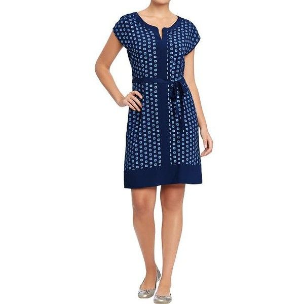 ec72574d7f Old Navy Womens Printed Cap Sleeve Shift Dresses ( 20) ❤ liked on Polyvore