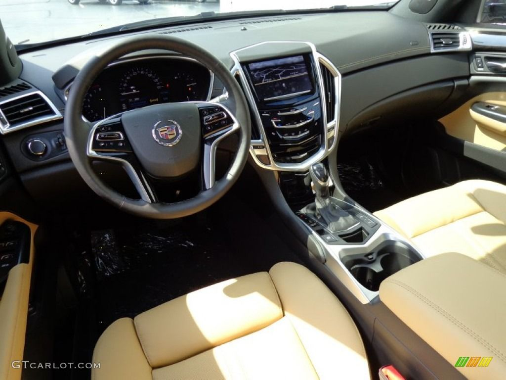 Caramel/Ebony Interior 2014 Cadillac SRX Luxury AWD Photo #85917993
