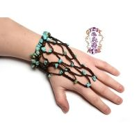 Navajo Canyons Woven And Beaded Hand Chain Accent