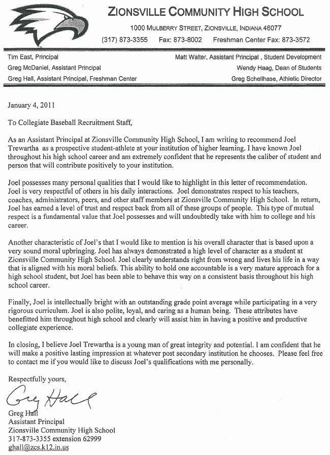 Letter Of for Principalship Unique