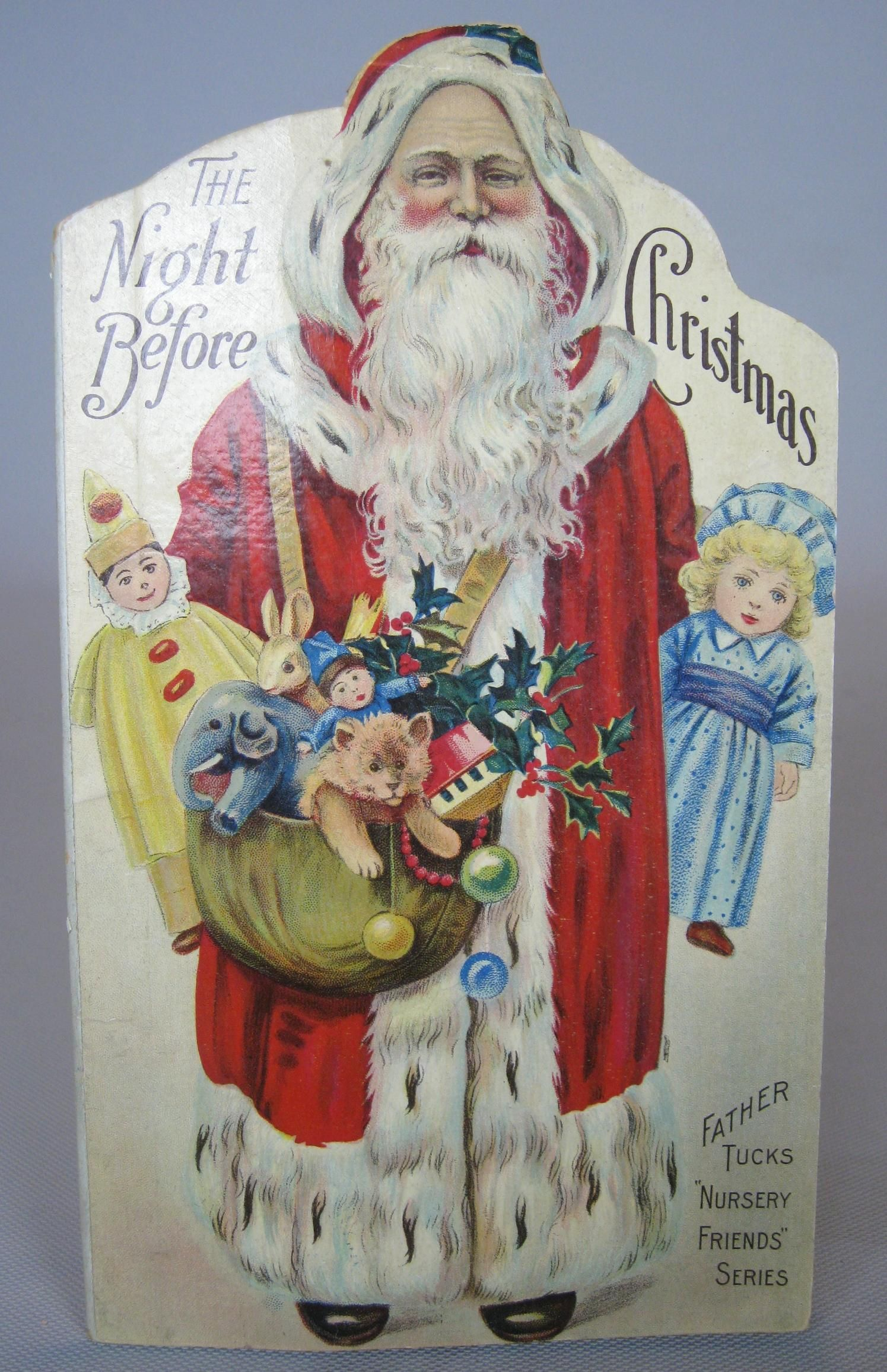 Antique the night before christmas raphael tuck santa