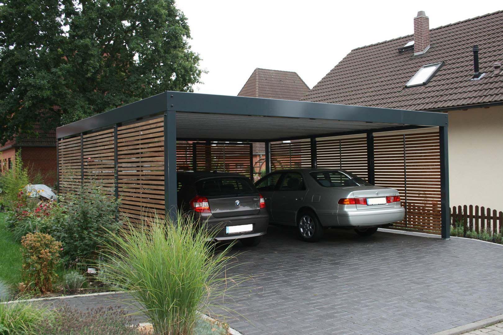Carport Metall Holz Stahl Berlin · Reihencarport Doppel