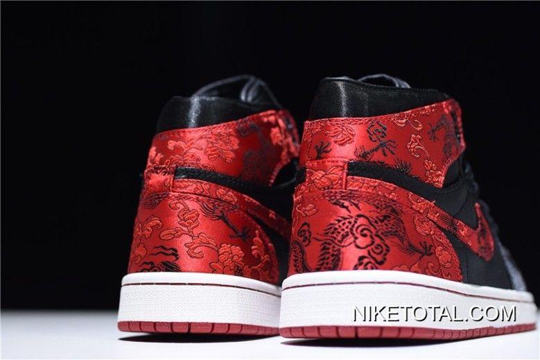 "759297ebd HZP Custom Air Jordan 1 High ""Dragon"" Black University Red-White AQ0818"