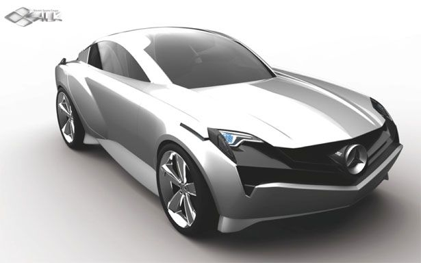 Mercedes Benz SILK: Electric Sports Coupe with Pedestrian Warning System  Mercedes Benz SILk is a degree project of Hyoungsoo Kim, a transportation designer. Based on today's technology where cars are headed at, in the future electric cars would dominate the road. Therefore, this designer decided to create a new and distinctive brand image for Mercedes without losing the connection of existing Mercedes design.