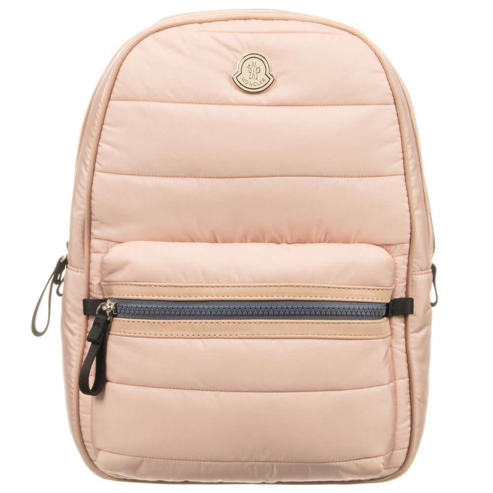 c74cce3b29f5 Girls Pink Backpack (32cm) for Girl by Moncler. Discover more beautiful designer  Bags for kids online