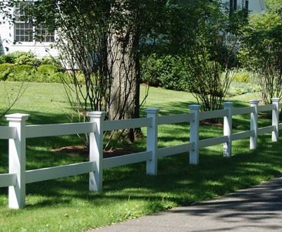 Low Maintenance Morgan Two Rail Fence Wood Fence Vinyl Fence Metal Fence From Walpole Outdoors Fence Landscaping Vinyl Fence Wood Fence