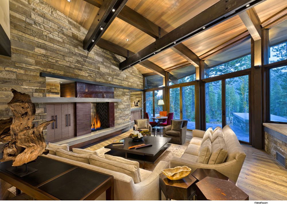 Unique Living Room Interior Design | Modern rustic homes ...