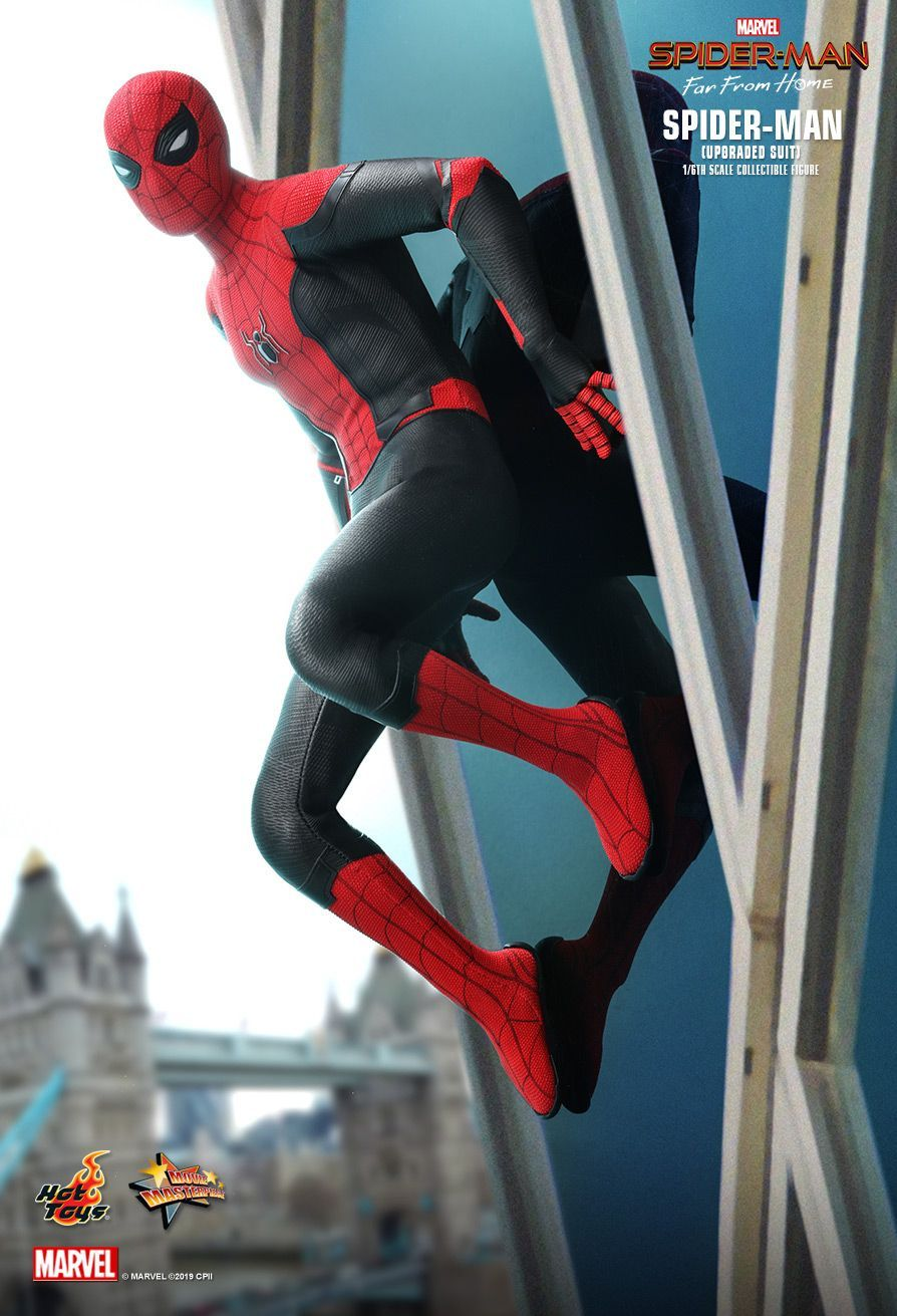 Hot Toys Spider Man Far From Home Spider Man Upgraded Suit 1 6th Scale Collectible Figure Spiderman Hot Toys Captain America Art