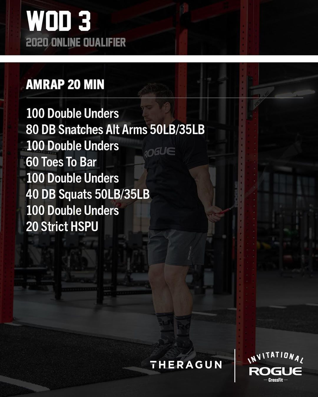 Rogue Invitational On Instagram Looking For An At Home Workout Here S Wod 3 From The 2020 Rogue Invitational Qualifier Swipe For The No Equipment Version G