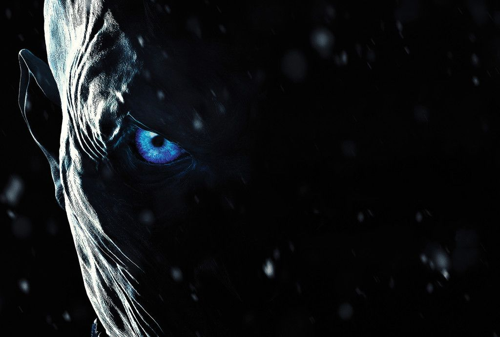 Game Of Thrones Season 7 White Walkers Face Blue Eyes