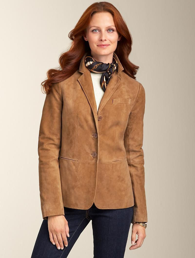 Talbots Suede Jacket Jackets Woman In 2021 Clothes Clothes For Women Fashion [ 1057 x 800 Pixel ]