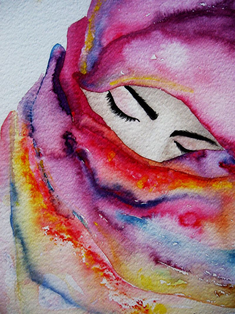The veil #watercolor