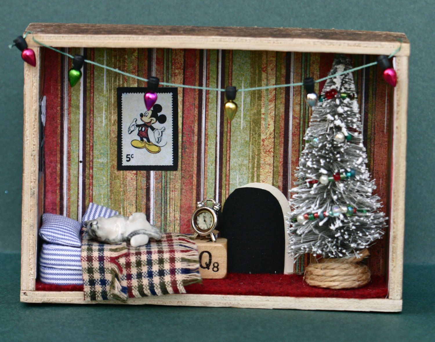 Miniature Children S Bedroom Room Box Diorama: Twas The Night Before Christmas Diorama, Shadow Box