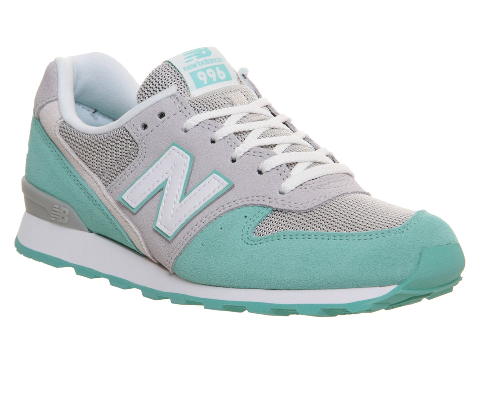 the best attitude c3d2d 8dd87 New Balance Wr996 Grey Mint Green - Hers trainers | Shoes ...