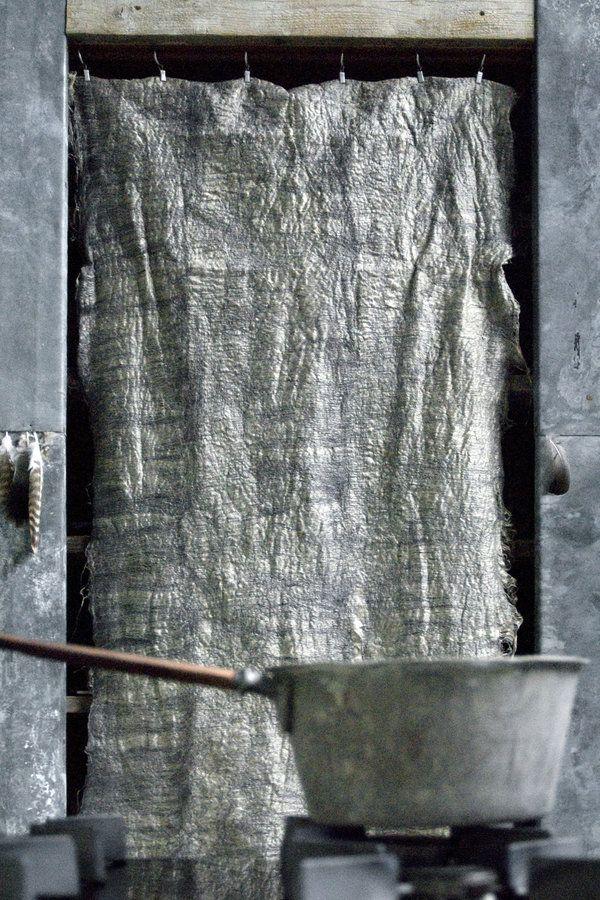 idée laine feutrée projet création textile?  Paula Leen creation