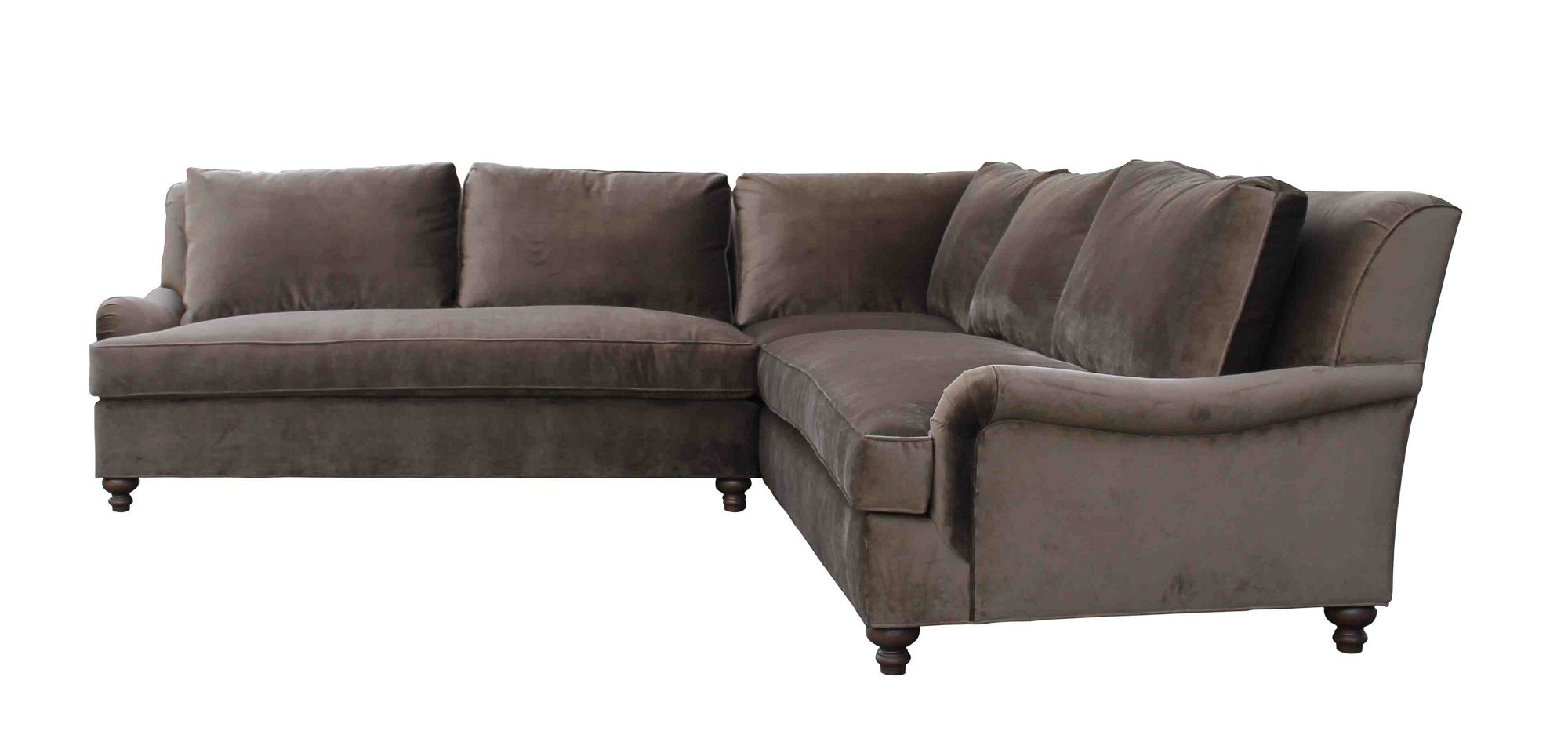 Los Sofas English Rolled Arm Sectional For Our Apartment Custom Sofa