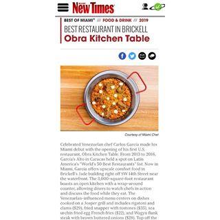Obra Miami Obramiami Instagram Photos And Videos Obra Miami Chef Carlos Garcia S Fundining Experience Where Cocin Sisters Restaurant Kitchen Table Chef