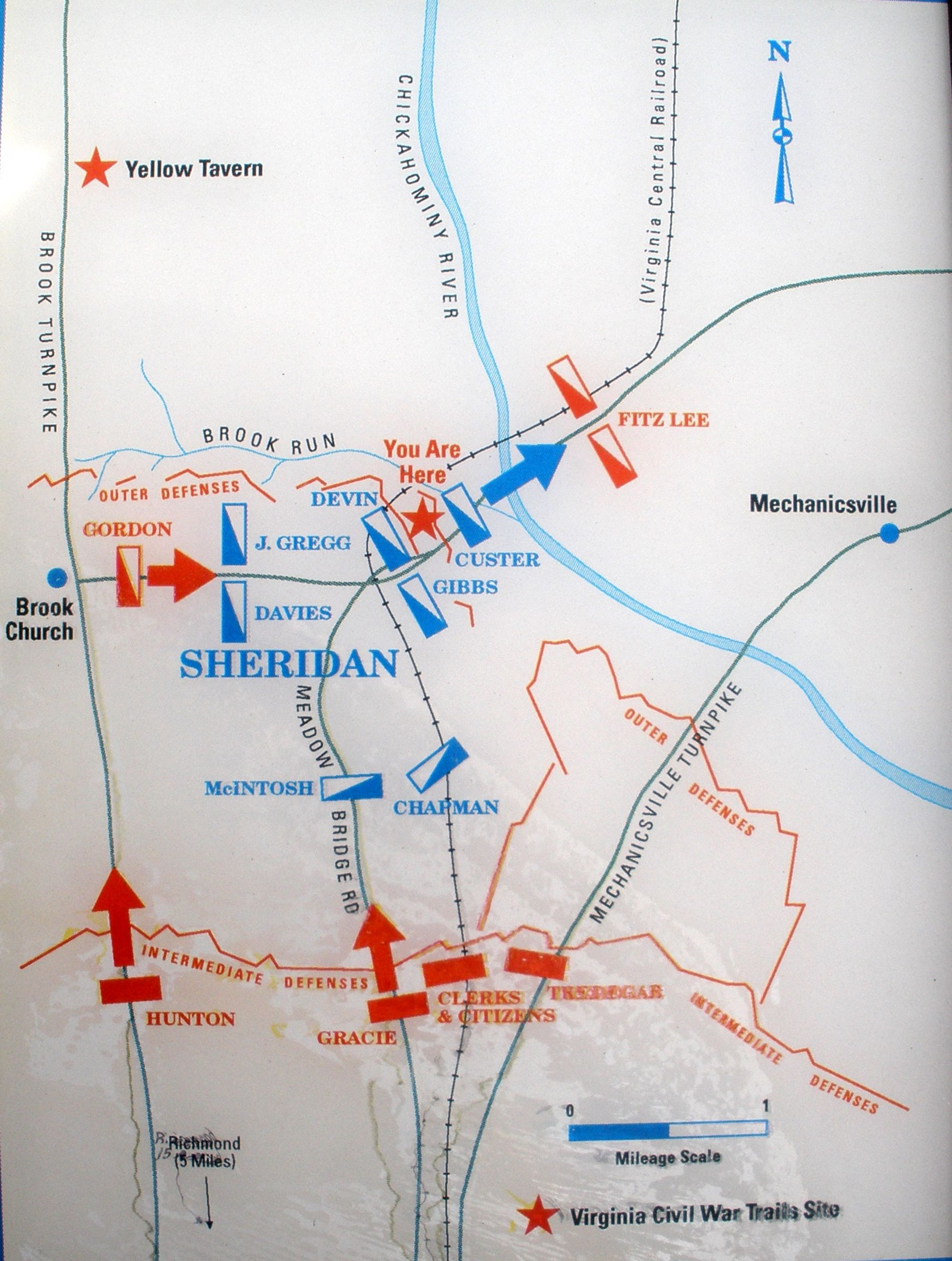 Battle At Meadow Bridge Map Pvt Samuel Hitz US Civil - Us bridge map